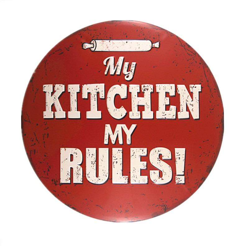 My Kitchen My Rules Vintage Tin Signs Restaurant Home Decor Craft Cafe Wall Decor Art Poster Tin Plaque