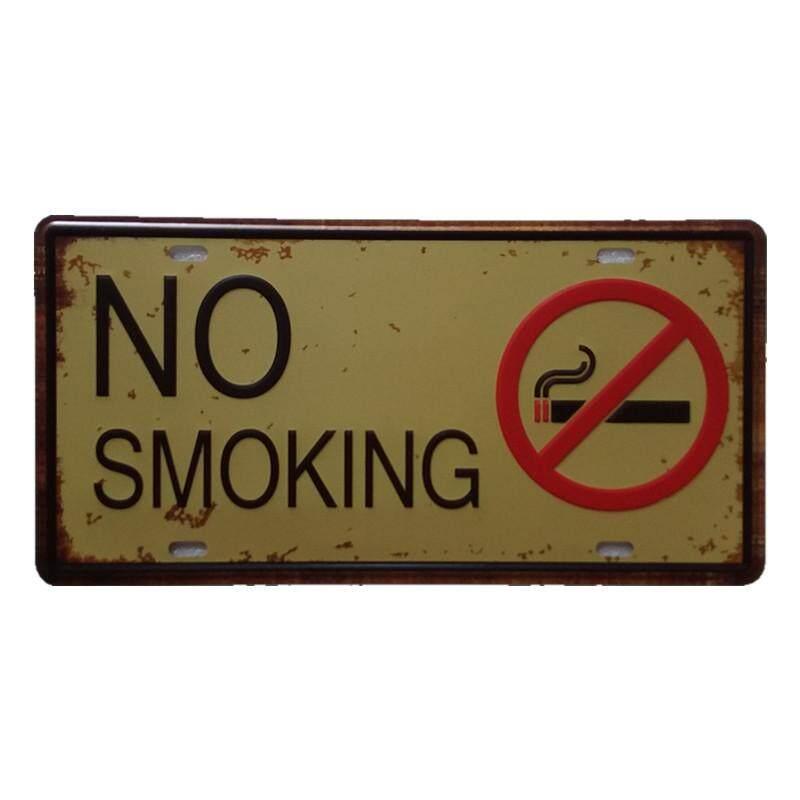 Tidak Merokok Antik Logam Lukisan untuk Cafe Bar Restoran Dinding Dekor-Internasional