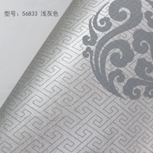 Non-Woven Cloth Classical Chinese Wallpaper Living Room Bedroom Aisle China Wind Wallpaper Light Gray 0.53*10m - intl