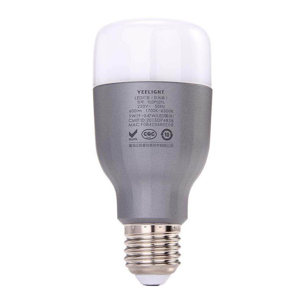 Original Xiaomi Yeelight LED Smart Bulb (Color Version) E27 9W 600 Lumens Mi Light Smart Phone WiFi Remote Control Adjustable Brightness Eyecare Light for iOS Android Phone - intl
