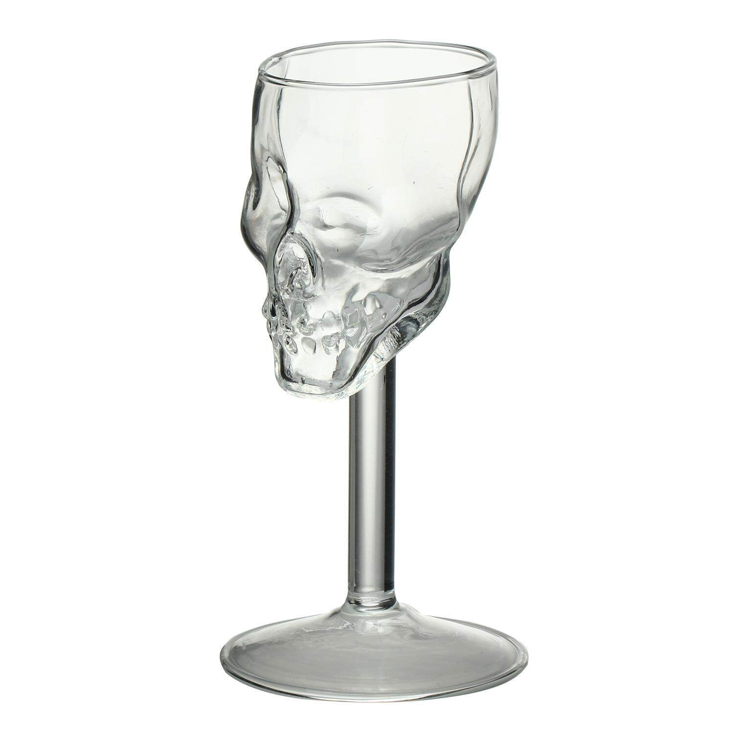 ouhofus Mini Fancy Skull Transparent Glass Cup Wine Goblets - intl