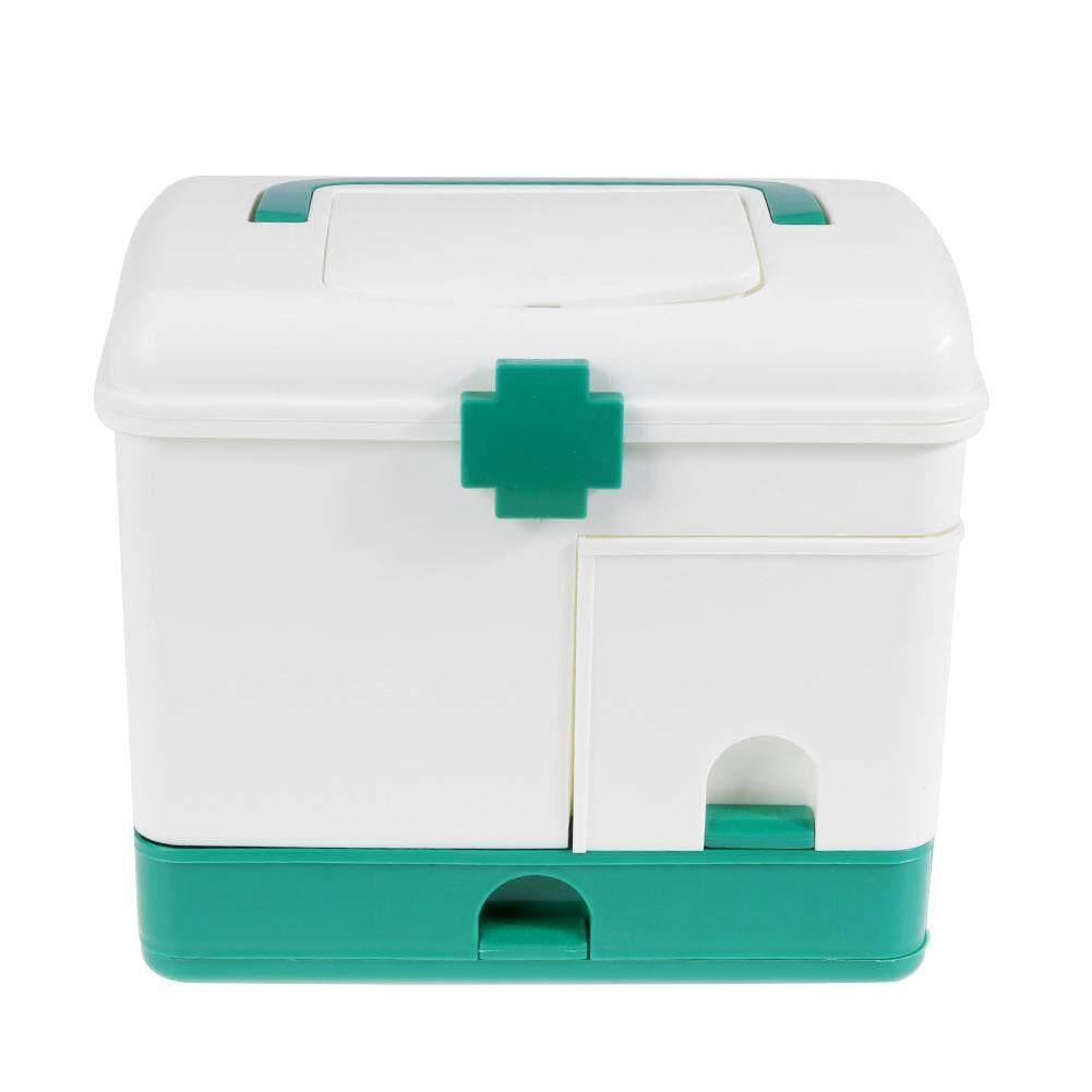 Plastic Multi-layer Emergency Medicine Storage Box Kids Health Care Case - intl