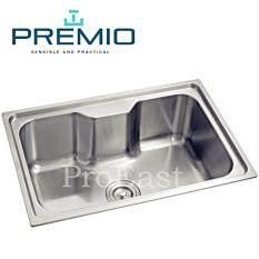 Premio S1 6645 Single Medium Stainless Steel Kitchen Sink 1 0mm T