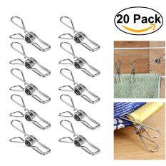 Rosenice 20pcs Multipurpose Stainless Steel Clips Clothes Pins Pegs Holders (silver) By Eshopdeal.