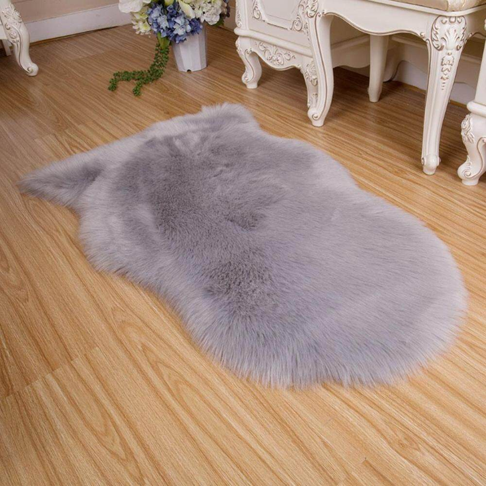 Rugs Floor Mat Warm Imitation Wool Artificial Sheepskin Home Decoration Bed - intl