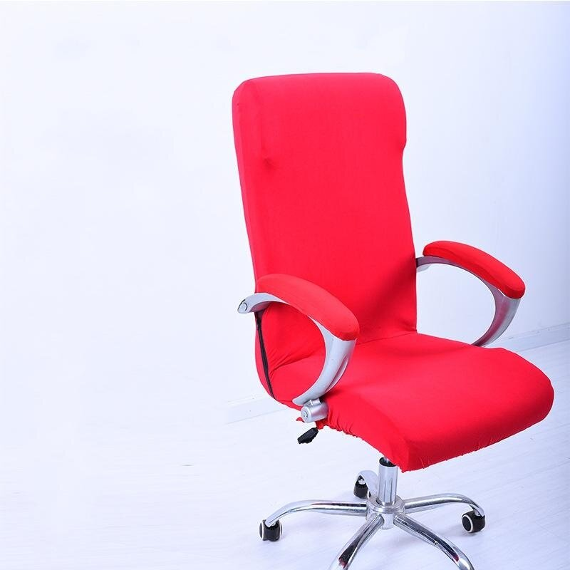 S Spandex Office Chair Cover Slipcover Armrest Cover Computer Seat Cover Stool Swivel Chair Elastic(Chair is NOT included) # Red - intl