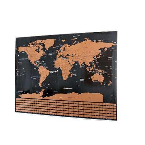 Awal dari Peta Dunia Travel Pribadi Tracker Peta Menggosok Sampai Hilang Koin Scratchable Poster Dinding Unik & Hadiah Dekorasi untuk Penggemar Perjalanan 1