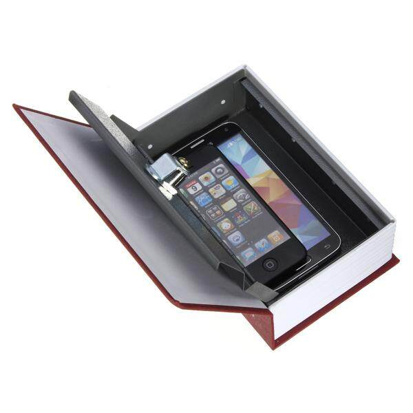 Secret Dictionary Book Cash Money Jewelry Safe Storage Box Security Key Lock Red - intl