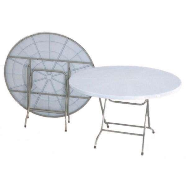 SG TAN Feet Round Plastic TableDining TableWriting TableMamak - 3 foot round dining table