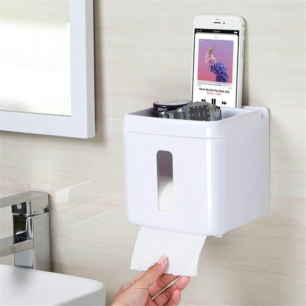 Provided Simple Bathroom Accessories Toilet Paper Holder White Lavatory Closestool Toilet Paper Dispenser Tissue Box Goods Of Every Description Are Available Home Improvement