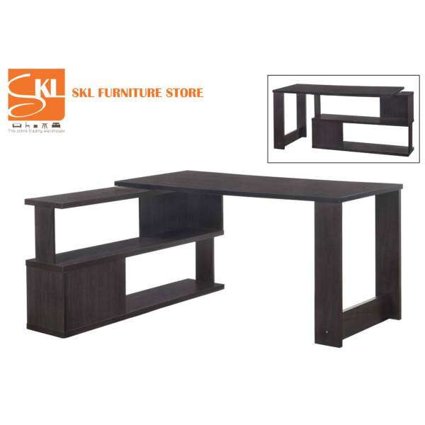 skl furniture 5 feet elna 2in1 study table computer table with