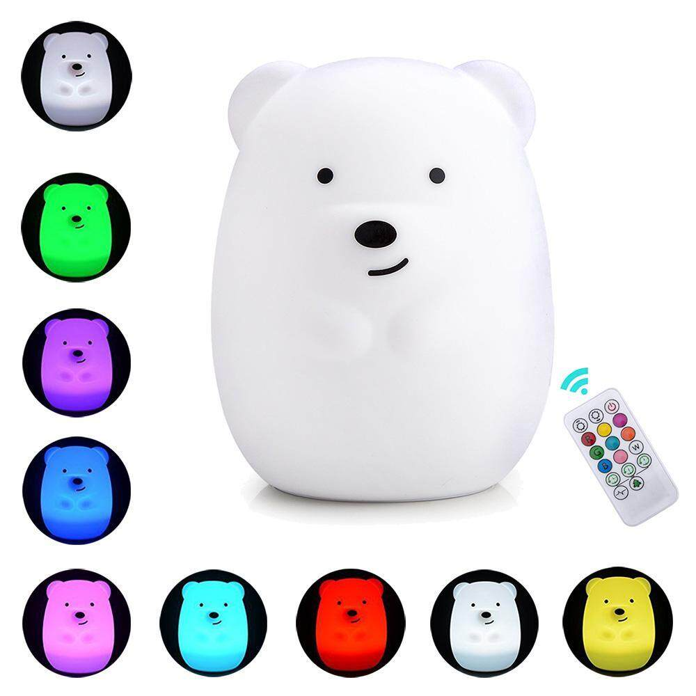 Teekeer Baby Night Light, 9 Colors 4 Modes Remote Control Tap Control Soft Silicone Rechargeable Colorful Night Lamp - Intl By Teekeer.