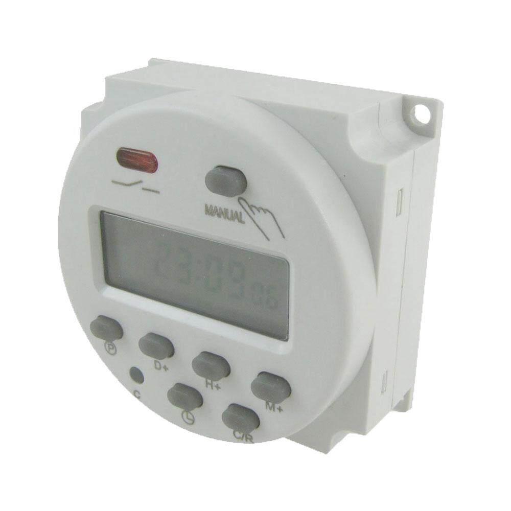 Teekeer DC 12V Digital LCD Power Programmable Light Timer Time Switch Relay(White) - intl