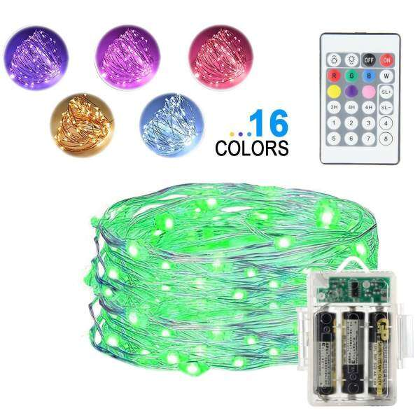 Teekeer led string lights5m 16ft 50 leds fairy lights battery teekeer led string lights5m 16ft 50 leds fairy lights battery operated waterproof 16 colors outdoor aloadofball Image collections