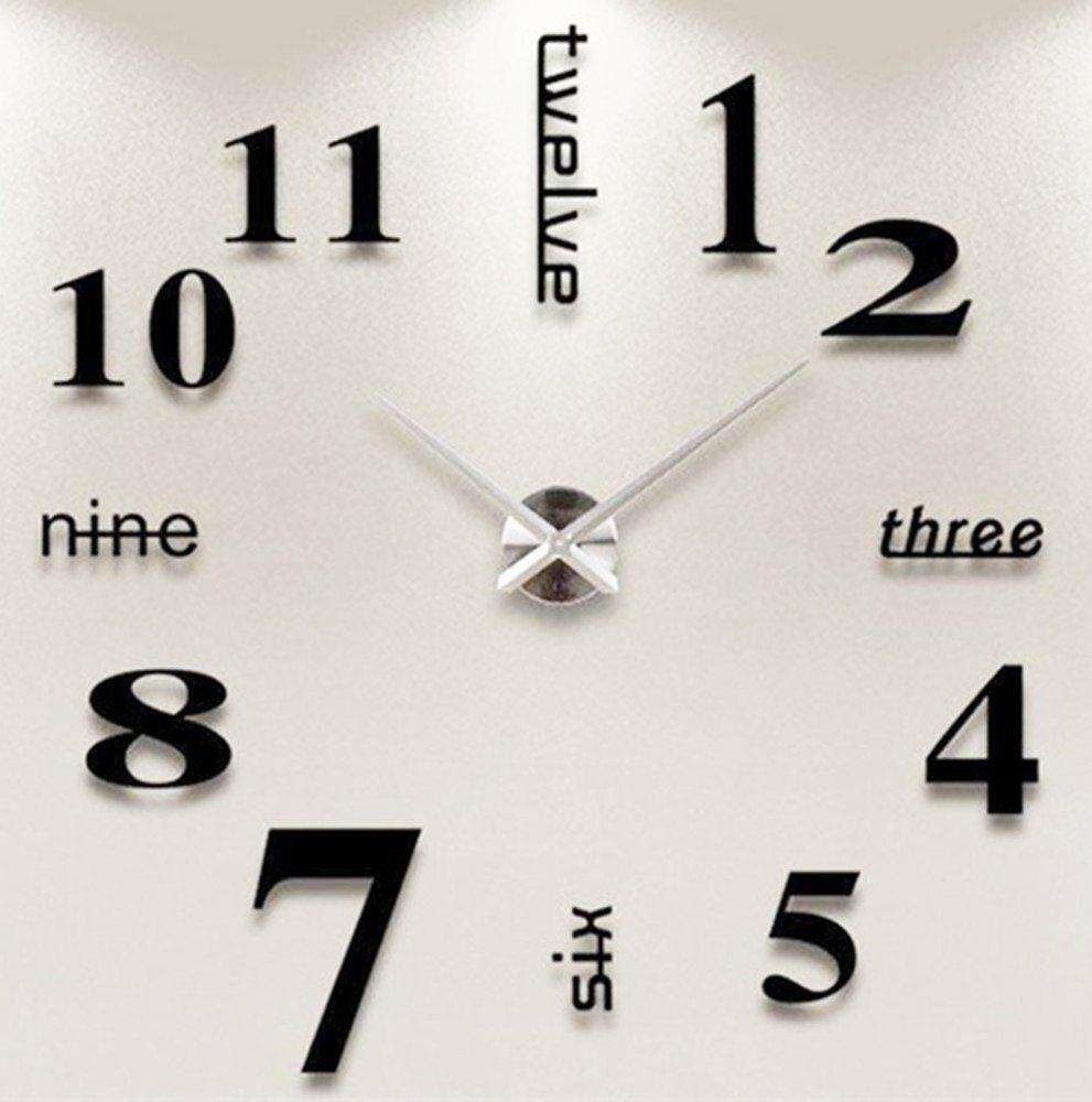 clock for sale large clocks prices, brands \u0026 review in philippinesteekeer modern diy wall clock 3d large number acrylic mirror surface wall sticker clock,black