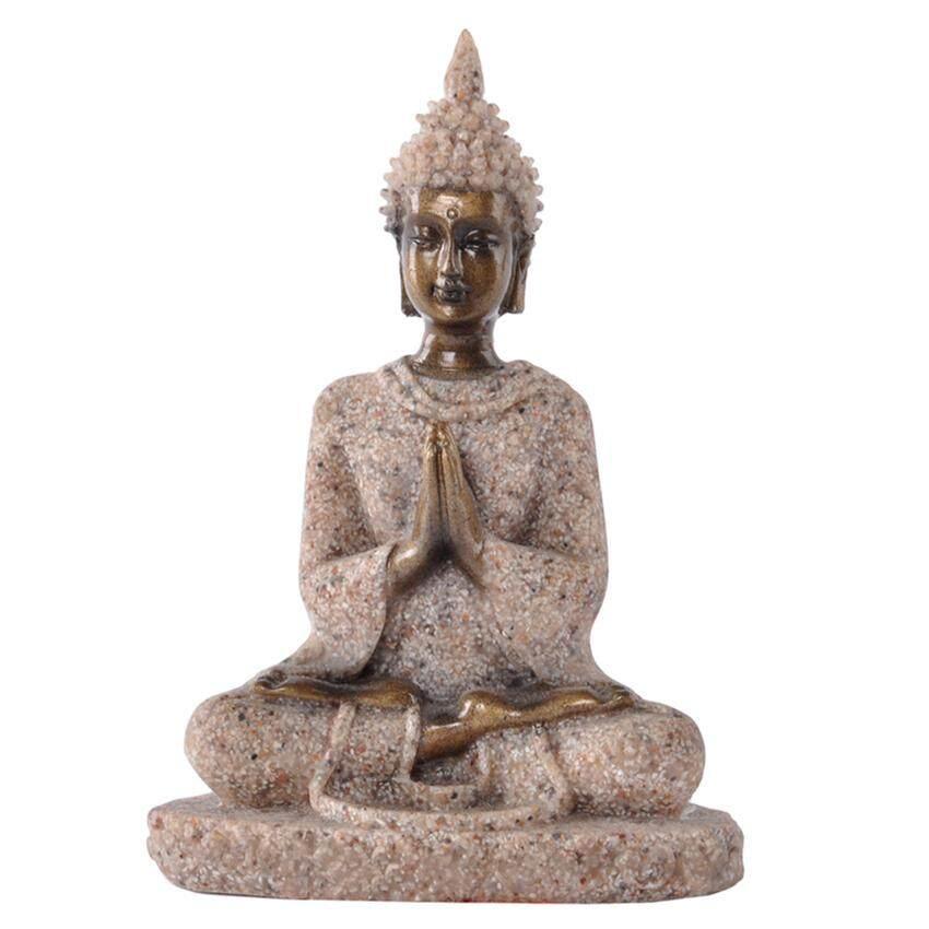 The Hue Sandstone Meditation Buddha Statue Sculpture Hand Carved Figurine #3 - intl