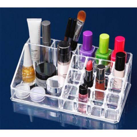 LB Tebal Jelas Meja Plastik Rak Pajangan Kosmetik Contoh Kosmetik Dudukan Penyimpanan Penata Alat Rias 1