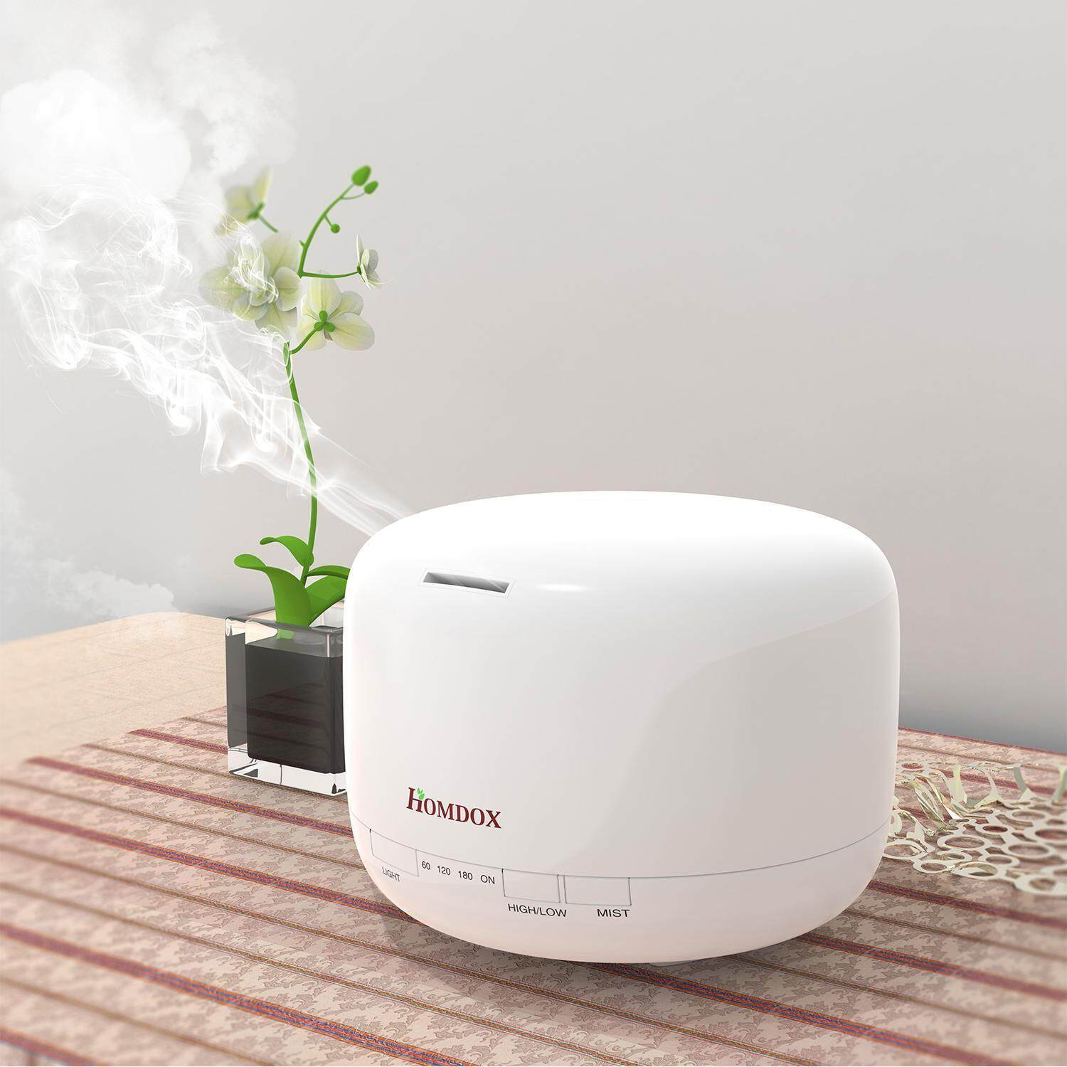 TOP SALE Sunwonder 500ml 4 Timer Setting LED Color Changing Aroma Diffuser Humidifier - intl