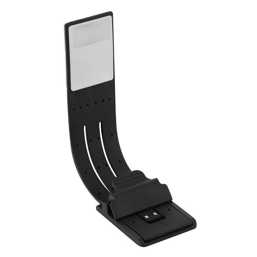 Umiwe Book Light,Portable USB Rechargeable Ultra Thin LED Reading Light Mini Clip Lamp Bed Night Light For Book Computer And More(Black) - intl