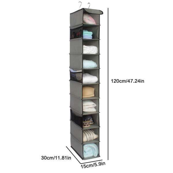 Umiwe Home Hanging Clothes Storage Box (10 Shelving Units With Zipper)  Durable Accessory Shelves