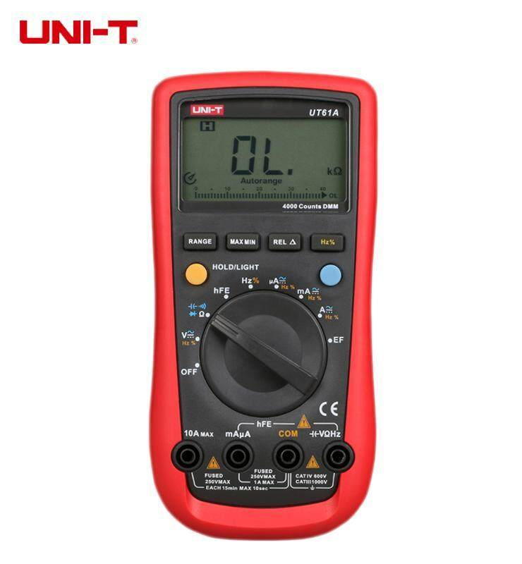 UNI-T UT61A Digital Multimeters Auto Range High Accuracy Testers Voltage Current Resistance Cap Hz LCD Backlight - intl