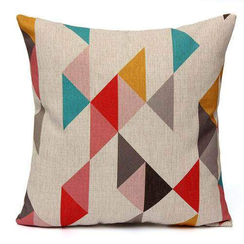 Vintage flax Cushion Covers Throw Pillow Case Home Sofa Decor Pattern:Color Triple-cornered