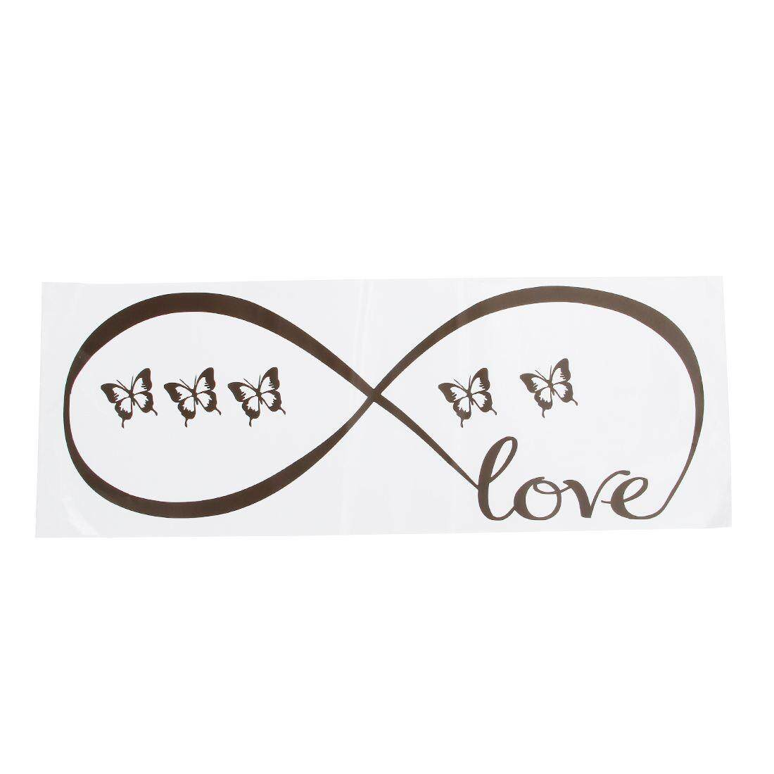 Wall Decal Of Love Personalized Infinity Symbol Bedroom Decor Quotes Vinyl Stickers