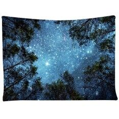 COROMOSE Wall Hanging Tapestry Milky Way Map Starry Sky  Colour:Galaxy tree Size:130X150cm