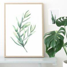Watercolor Tropical Leaf Canvas Art Print Painting Poster Wall Pictures For Home Decoration Giclee