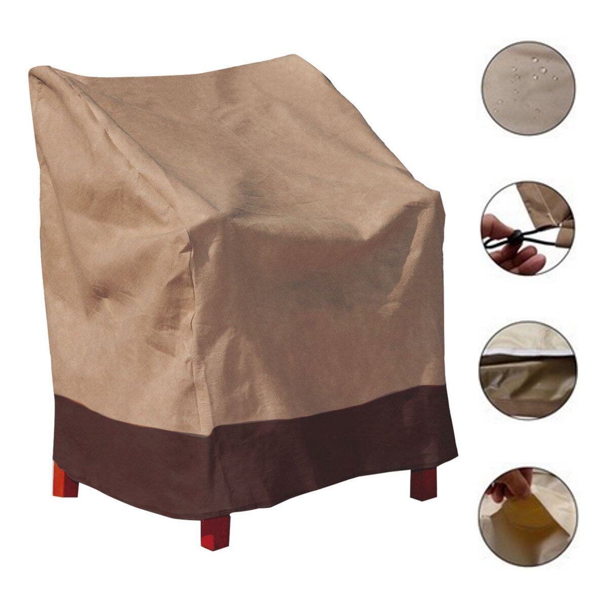 Waterproof Patio Single High Back Chair Covers Outdoor Yard Furniture Protection - intl
