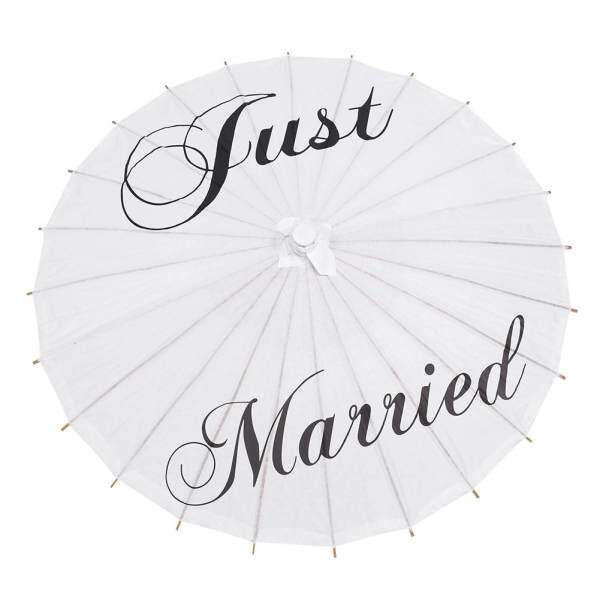 White Paper Umbrella Wedding Decorations Photography Art (Just married) Malaysia