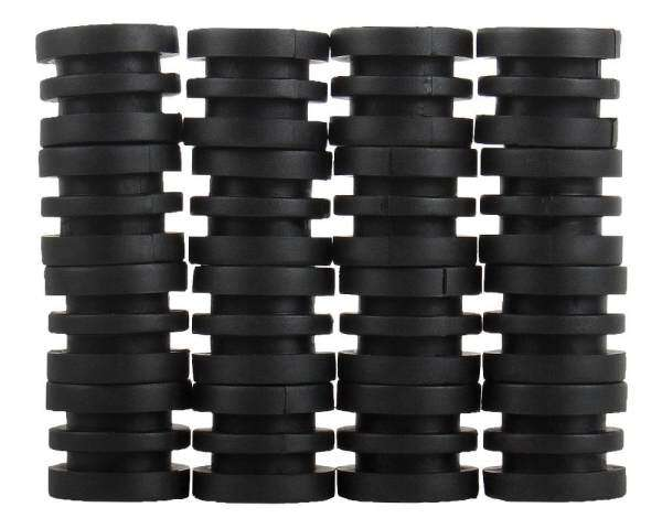 dick Anticollision 5/8 Inch Foosball Rods Rubber Bumpers for Foosball Table (Black) - intl