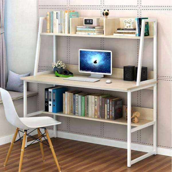 modern study table with hidden book shelves built up 3