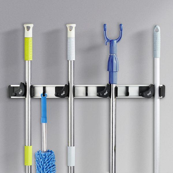 YOHOM Mop And Broom Holder Shelf Storage Solutions For Garage Storage  Systems Broom Organizer For Garage ...