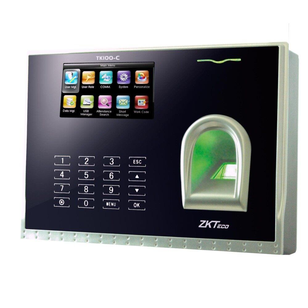 Zkteco TFT Layar Multi-media Sidik Jari Waktu Attendance Jam Waktu dengan TCP/IP dan Komunikasi USB Pengguna dukungan Sidik Jari/Password/Kartu RFID Metode Verifikasi  TK100-C 3.0