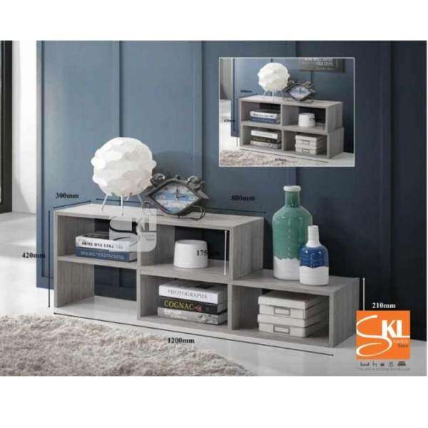ZL SKL6168 FLEXI MULTI PURPOSE CABINET/ TV CONSOLE WITH EXTENSION (Light  Grey) Malaysia