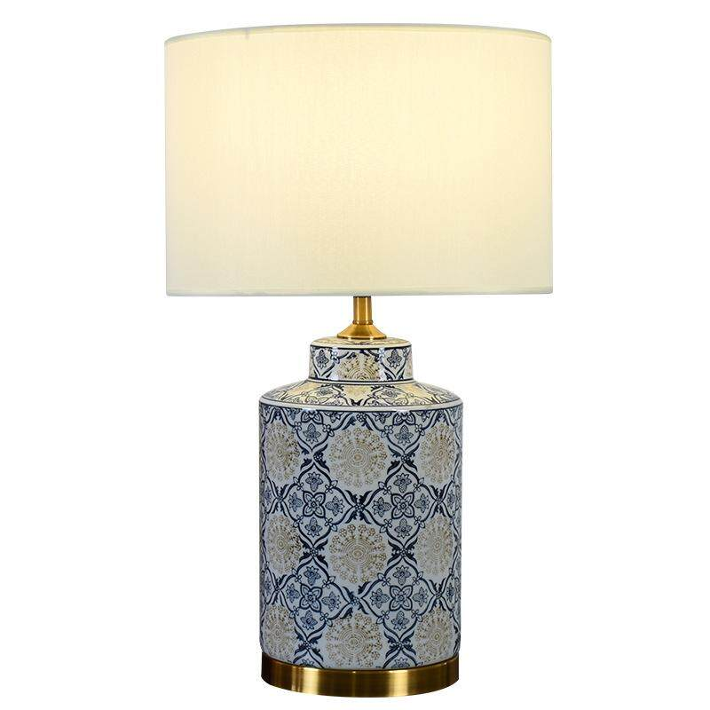 Modern Chinese Living Room Simple Bedside Lamp Bedroom Decoration Lamp Ceramic Study Lamp