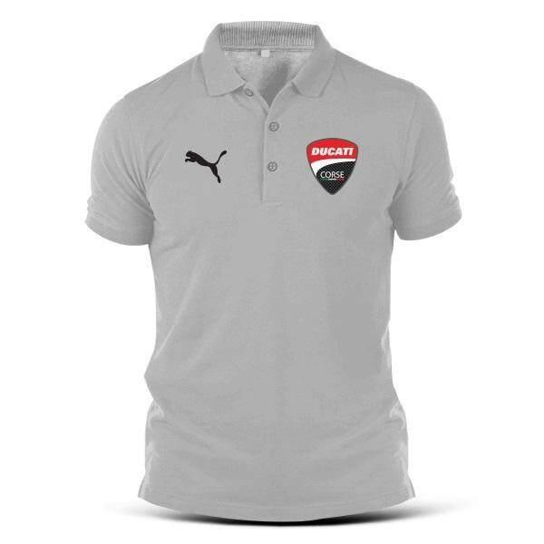 707cd8aa Puma Ducati Corse Embroidery Team MotoGP Bikes Motorcycle Superbike Polo T  Shirt