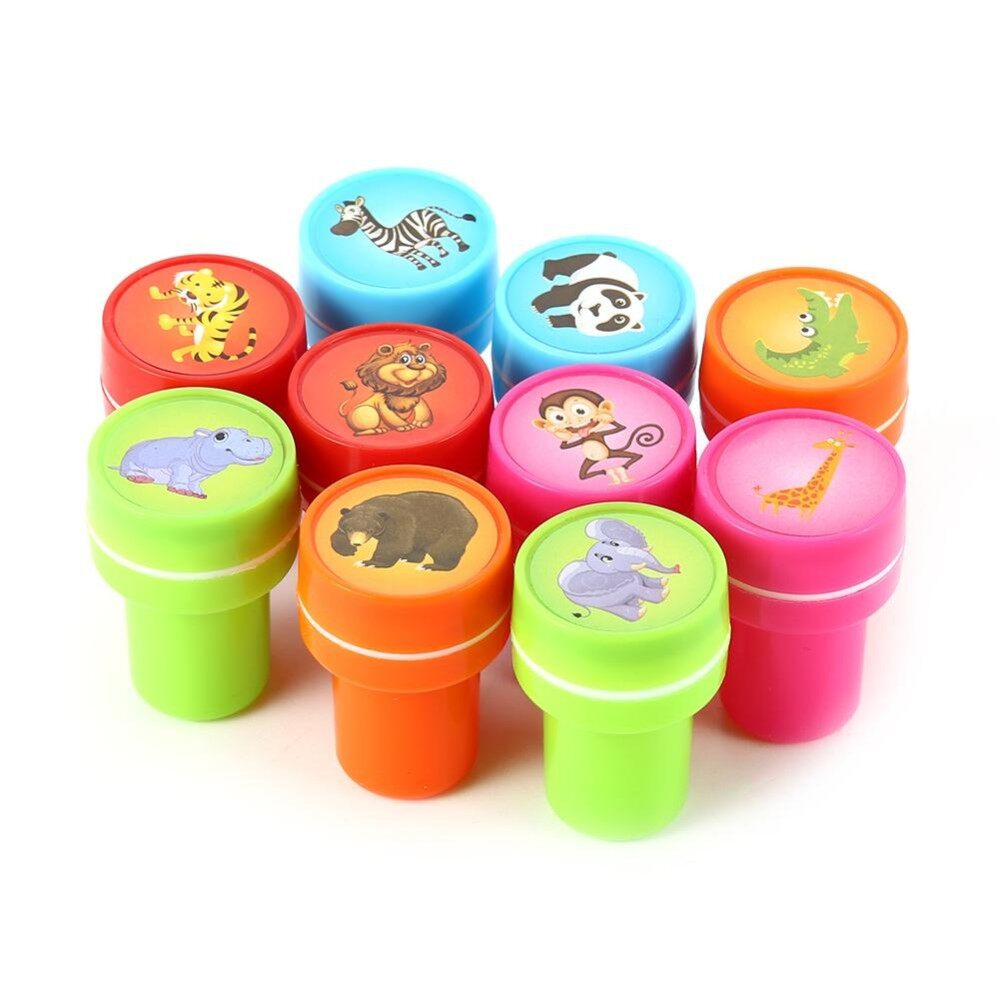 10 Pcs Assorted Zoo Animals Stamps Kids Party Favors Event Supplies For Birthday Party Gift Toys Boy Girl Pinata Fillers - Intl By Veecome.