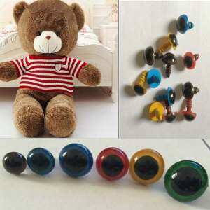 100pcs 8mm Plastic Safety Eyes For Teddy Bear Doll Animal Puppet Cute Coffee - intl