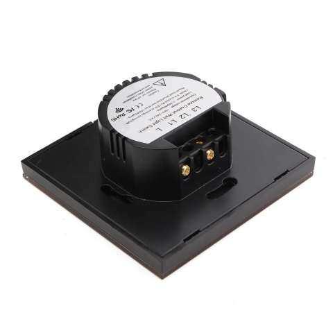 1/2/3 Gang 1 Cara SMART Lampu Tenaga Sentuh Switch Panel Kaca Kokoh + Pengendali Jarak Jauh Emas 3