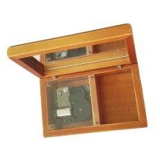 18 Catatan Antik Wind-Up Kotak Musik Kayu dengan Silver-Plating Gerakan. ukuran