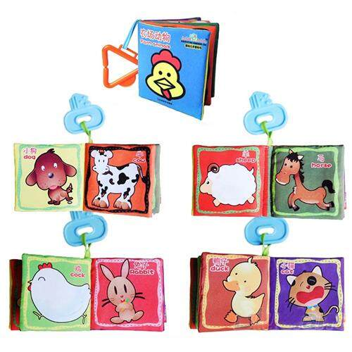 Hình ảnh 1x Intelligence development Cloth Cognize Book Educational Toy for Kid Baby - intl