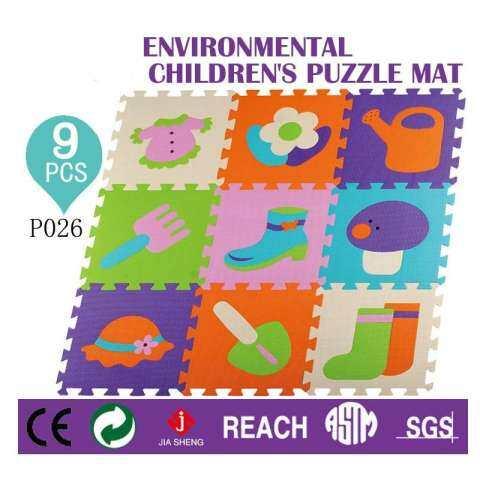 9 Pieces Bayi Tikar Bermain Eva Tidak Beracun Bermain Tikar Puzzle Latihan Kebugaran Lantai Alas Bermain Karpet Pelindung Memasang Ubin Karpet Tikar Puzzle 1 Set p026 1