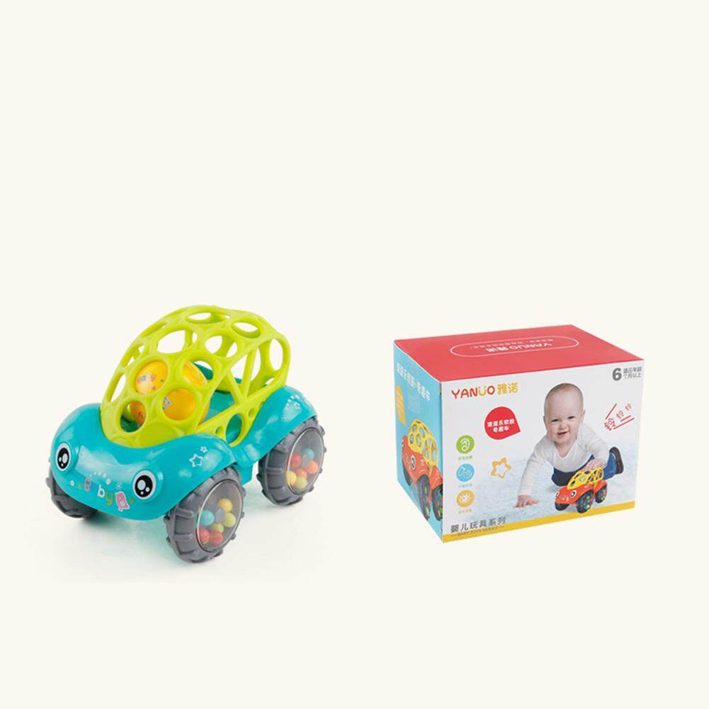Baby Soft Hand Grasping Hole Bell Ring Car Cute Teether Rattle Toys For Kids Green - Intl By Veecome.