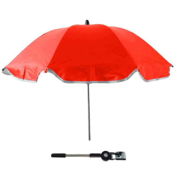 Baby Stroller Carriages UV Protection Umbrella Sunshade 360 Degrees Adjustable Direction Stroller Accessories for Most Baby Stroller Red - intl Singapore
