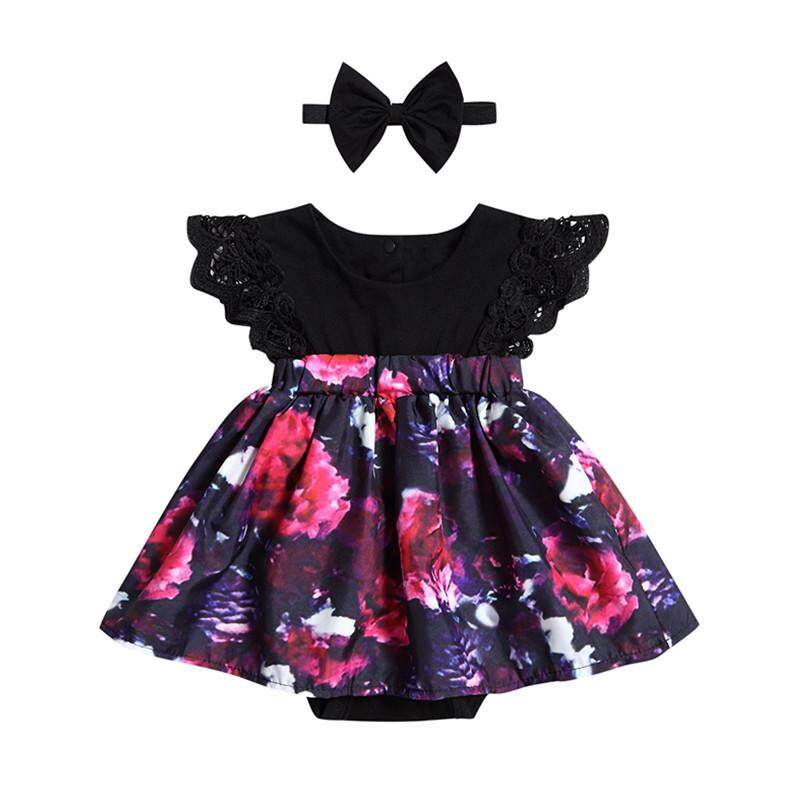 b68372326 Big Sister Outfit, Baby Girls Romper Dress, 2PCS Toddler Floral Swing  Dresses Specification: