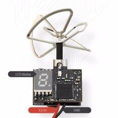 Eachine TX02 AIO 5.8g 40CH 200 MW VTX 600TVL 1/4 CMOS NTSC FPV Kamera Antena Hitam