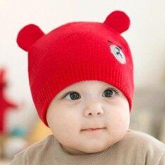 Fang Fang Bayi Musim Dingin Hangat Anak Laki-laki Perempuan Rajutan Topi dengan Dua Telinga
