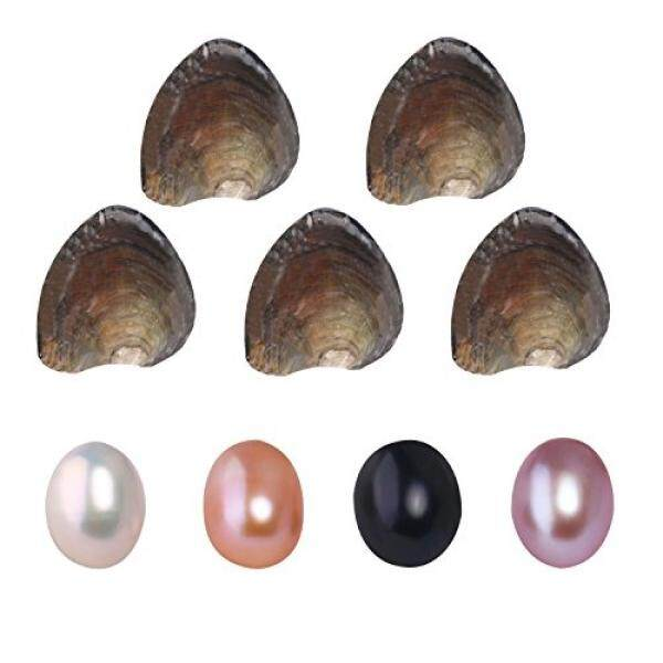Perhiasan Mewah Kelas Air Tawar Berbudaya Cinta Tiram Mutiara Wish Oval Mutiara dengan Putih/Berwarna Merah Muda/Ungu/Hitam hadiah Ulang Tahun Pesta Mutiara, Tiram Mutiara Di Dalam-Intl